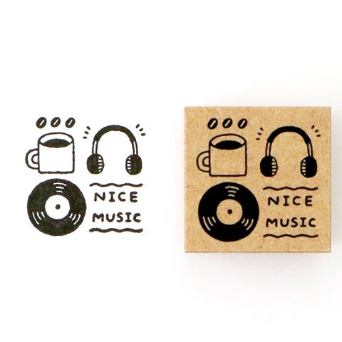 コラボSTAMPセット[eric LABEL] 捺し見本-NICE-MUSIC